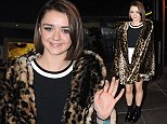 'Game of Thrones' actress Maisie Williams arrives at RTE for 'The Late Late Show' Featuring: Maisie Williams Where: Dublin, United Kingdom When: 03 Oct 2014 Credit: WENN.com **Not available for publication in Irish Tabloids, Irish magazines.**