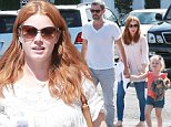 Picture Shows: Darren Le Gallo, Amy Adams, Aviana Le Gallo  October 03, 2014\n \n 'Big Eyes' actress Amy Adams lunches at Casa Vega in Studio City, California with her fiance Darren Le Gallo and their daughter Aviana. Amy just returned from Detroit, Michigan where she has been hard at work filming 'Batman v Superman: Dawn Of Justice.'\n \n Non-Exclusive\n UK RIGHTS ONLY\n \n Pictures by : FameFlynet UK © 2014\n Tel : +44 (0)20 3551 5049\n Email : info@fameflynet.uk.com