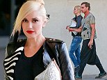UK CLIENTS MUST CREDIT: AKM-GSI ONLY\nEXCLUSIVE: Rock 'n' Roll couple Gwen Stefani and Gavin Rossdale attend a small private event at a mall on Ventura Boulevard in Sherman Oaks, CA. The blonde mom wore a black leather jacket over a black top, jeans and leather booties.\n\nPictured: Gwen Stefani and Gavin Rossdale\nRef: SPL856727  021014   EXCLUSIVE\nPicture by: AKM-GSI  \n\n