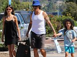Anthony Kiedis and family shopping in Malibu leaving the farmers market on October 5, 2014  X17online.com
