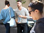 """Beverly Hills, CA - Lea Michele makes a quick entrance into the Montage Hotel while her boyfriend Matthew Paetz drops off the car in valet.  The """"Glee"""" star's handsome beau dressed in a brown sweater, black printed pants, and red sneakers.\nAKM-GSI       September 28, 2014\nTo License These Photos, Please Contact :\nSteve Ginsburg\n(310) 505-8447\n(323) 423-9397\nsteve@akmgsi.com\nsales@akmgsi.com\nor\nMaria Buda\n(917) 242-1505\nmbuda@akmgsi.com\nginsburgspalyinc@gmail.com"""