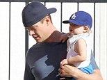 """Picture Shows: Josh Duhamel, Axl Duhamel  October 04, 2014    'Don Peyote' actor Josh Duhamel and his cute son Axl are seen picking up some breakfast in Brentwood, California.     Josh's wife, singer Fergie, recently stated that she is """"so blessed"""" to have the husband that she has, because he helps out with baby duties.     Non Exclusive  UK RIGHTS ONLY    Pictures by : FameFlynet UK © 2014  Tel : +44 (0)20 3551 5049  Email : info@fameflynet.uk.com"""