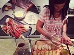 03.OCTOBER.2014\nSUPERSTAR SINGER RIHANNA COOKS SEAFOOD FOR A FRIEND SEEN IN THIS CELEBRITY TWITTER PICTURE POSTED VIA INSTAGRAM!\nBYLINE MUST READ: SUPPLIED BY XPOSUREPHOTOS.COM\n*Xposure Photos does not claim any Copyright or License in the attached material. Any downloading fees charged by Xposure are for Xposure's services only, and do not, nor are they intended to, convey to the user any Copyright or License in the material. By publishing this material , the user expressly agrees to indemnify and to hold Xposure harmless from any claims, demands, or causes of action arising out of or connected in any way with user's publication of the material*\n**UK CLIENTS MUST CALL PRIOR TO TV OR ONLINE USAGE PLEASE TELEPHONE  +44 208 344 2007**