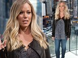 """NEW YORK, NY - OCTOBER 03:  Kendra Wilkinson visits """"Extra"""" at their New York studios at H&M in Times Square on October 3, 2014 in New York City.  (Photo by D Dipasupil/Getty Images for Extra)"""