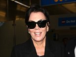 Kris Jenner arrives back in Los Angeles without her wedding ring on after Paris fashion week.  Pictured: Kris Jenner Ref: SPL855773  011014   Picture by: Clint Brewer / Splash News  Splash News and Pictures Los Angeles: 310-821-2666 New York: 212-619-2666 London: 870-934-2666 photodesk@splashnews.com