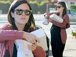 @NATIONAL PHOTO GROUP\\nRachel Bilson's baby bump is larger than ever as she stops at the Belwood Bakery on the way to the studio in Los Angeles on Friday.\\nJob: 100314X14\\nEXCLUSIVE  October 3, 2014  Los Angeles, CA..NPG.com