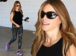 """Picture Shows: Sofia Vergara  October 06, 2014\n \n """"Modern Family"""" star Sofia Vergara starts her day with a morning workout in Beverly Hills, California. Over the weekend Sofia tweeted a picture of a huge rose bouquet her boyfriend Joe Manganiello sent her and captioned it """"Te amo"""" along with four heart emoticons.\n \n Non-Exclusive\n UK RIGHTS ONLY\n \n Pictures by : FameFlynet UK © 2014\n Tel : +44 (0)20 3551 5049\n Email : info@fameflynet.uk.com"""