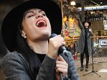 LONDON, ENGLAND - OCTOBER 06:  Jessie J performs for fans at Stables Market, Camden on October 6, 2014 in London, United Kingdom.  (Photo by Samir Hussein/Redferns via Getty Images)