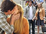 """Amanda Seyfried and Mark Wahlberg seen kissing on the set of """"Ted 2"""" movie outside the Public Library in Bryant Park, Manhattan.\n\nPictured: Mark Wahlberg and Amanda Seyfried\nRef: SPL859826  071014  \nPicture by: Jose Perez / Splash News\n\nSplash News and Pictures\nLos Angeles: 310-821-2666\nNew York: 212-619-2666\nLondon: 870-934-2666\nphotodesk@splashnews.com\n"""
