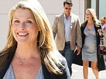 """Beverly Hills, CA - A very pregnant Ali Larter and husband Hayes MacArthur looked blissful grabbing lunch together at La Scala restaurant in Beverly Hills. Larter was recently quoted as saying her second pregnancy was considerably """"less charming"""" and """"magical"""" as the first; the pair are expecting their second child this winter.\nAKM-GSI        October 6, 2014\nTo License These Photos, Please Contact :\nSteve Ginsburg\n(310) 505-8447\n(323) 423-9397\nsteve@akmgsi.com\nsales@akmgsi.com\nor\nMaria Buda\n(917) 242-1505\nmbuda@akmgsi.com\nginsburgspalyinc@gmail.com"""