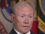 Joint Chiefs Chairman Gen. Martin Dempsey said he is 'fearful' that the Syrian city of Kobani will fall to the ISIS terror army