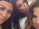 Kourtney Kardashian Instagram with Kim and Khlow