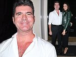MUST BYLINE: EROTEME.CO.UK Simon Cowell celebrating his birthday with fianc   Lauren Silverman at The Arts club in London. NON-EXCLUSIVE    October 7, 2014 Job: 141008L1     London, England EROTEME.CO.UK 44 207 431 1598