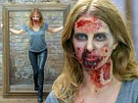 """""""Strictly Embargoed until 7am GMT Oct 8th 2014"""" To mark the launch of Season 5 of The Walking Dead on NOW TV next week, Millie Mackintosh got a gruesome walker makeover. """"Strictly Embargoed until 7am GMT Oct 8th 2014""""  Pictured: Millie Mackintosh Ref: SPL859600  071014   Picture by: Jon Furniss  Splash News and Pictures Los Angeles: 310-821-2666 New York: 212-619-2666 London: 870-934-2666 photodesk@splashnews.com"""