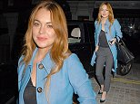 Celebrities at the Chiltern Firehouse in London, UK.   Pictured: Lindsay Lohan Ref: SPL857497  071014   Picture by: Splash News  Splash News and Pictures Los Angeles: 310-821-2666 New York: 212-619-2666 London: 870-934-2666 photodesk@splashnews.com