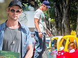 Australian actor Chris Hemsworth shopping in Byron Bay with his wife and child. Chris recently bought a new house with his wife Elsa Pataky for a reported $7.2 million. Chris is pictured with wife and twins and the new house overlooking 7 mile beach NSW. Chris Hemsworth is the star of Australian TV series Home and Away and as Thor in the Marvel Studios films Thor, The Avengers, Thor: The Dark World and the upcoming Avengers: Age of Ultron