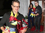 West Hollywood, CA - Matt Damon and his wife Luciana Barroso kept close as they left a celebratory dinner at Madeo Restaurant.  The talented actor, who turns 44-year-old tomorrow, carried a colorful pi  ata and a lomography instant camera back to his ride after his fun night out in West Hollywood. AKM-GSI        October 7, 2014 To License These Photos, Please Contact : Steve Ginsburg (310) 505-8447 (323) 423-9397 steve@akmgsi.com sales@akmgsi.com or Maria Buda (917) 242-1505 mbuda@akmgsi.com ginsburgspalyinc@gmail.com