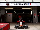 SOCHI, RUSSIA - OCTOBER 08:  Jules Bianchi of France and Marussia's name is displayed above his side of the team garage during previews ahead of the Russian Formula One Grand Prix at Sochi Autodrom on October 8, 2014 in Sochi, Russia.  (Photo by Paul Gilham/Getty Images)
