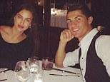 Cristiano Ronaldo celebrated his latest Real Madrid hat-trick at dinner with girlfriend Irina Shayk