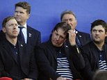 epa04422329 Phil Mickelson (C) of the USA and his teammates react after losing the 40th Ryder Cup against Europe at Gleneagles, Perthshire, Scotland, 28 September 2014.  EPA/FACUNDO ARRIZABALAGA