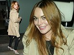 Lindsay Lohan seen here leaving Nobu Park Lane in London looking fresh faced and happy after dining at the posh restaurant.  Pictured: Lindsay Lohan Ref: SPL860293  081014   Picture by: Splash News  Splash News and Pictures Los Angeles: 310-821-2666 New York: 212-619-2666 London: 870-934-2666 photodesk@splashnews.com