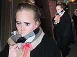 9 Oct 2014 - LONDON - UK  ADELE LEAVES HACKNEY EMPIRE AFTER WATCHING FKA TWIGS  BYLINE MUST READ : XPOSUREPHOTOS.COM  ***UK CLIENTS - PICTURES CONTAINING CHILDREN PLEASE PIXELATE FACE PRIOR TO PUBLICATION ***  **UK CLIENTS MUST CALL PRIOR TO TV OR ONLINE USAGE PLEASE TELEPHONE   44 208 344 2007 **