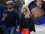 PICTURE EXCLUSIVE: Mollie King and David Gandy hold hands on romantic London stroll in FIRST photo since reports of a reconciliation emerged