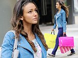 Mandatory Credit: Photo by MCPIX/REX (4189429d)  Michelle Keegan  'Ordinary Lies' TV drama location filming, Manchester, Britain - 09 Oct 2014  Michelle Keegan filming scenes for her new BBC drama 'Ordinary Lies' which sees her shopping in Manchester City Centre