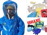 Ebola Protection Preview.  Items that are for sale to help protect the public from Ebola.