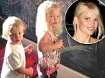 """9-10-2014\nJessica Simpson writes """"Please stop getting older!!!!\nPictured:  Ace Knute Johnson, Maxwell Drew Johnson\nPLANET PHOTOS\nwww.planetphotos.co.uk\ninfo@planetphotos.co.uk\n+44 (0)20 8883 1438"""