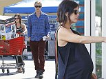 Picture Shows: Rachel Bilson, Hayden Christensen  October 08, 2014    A very pregnant Rachel Bilson and her boyfriend Hayden Christensen stop by Lowe's to purchase a pressure washer in Los Angeles, CA.    Afterwards the happy couple, which are expecting a baby girl, grabbed some bagels and apple juice before heading home.     Exclusive - All Round  UK RIGHTS ONLY     Pictures by : FameFlynet UK    2014  Tel : +44 (0)20 3551 5049  Email : info@fameflynet.uk.com