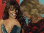 Awkward: Lea Michele greeted Jessica Lange at the American Horror Story: Freak Show premiere on Sunday but the actress snubbed her