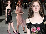Mandatory Credit: Photo by Startraks Photo/REX (4189611f)\n Elle Fanning\n 'Late Show with David Letterman', New York, America - 09 Oct 2014\n \n