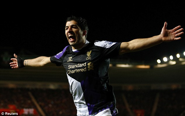 Proving his worth: Suarez has been one of the best strikers in the Premier League