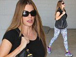 UK CLIENTS MUST CREDIT: AKM-GSI ONLY EXCLUSIVE: Beverly Hills, CA - Sofia Vergara keeps fit with a gym visit in Beverly Hills. The 'Modern Family' star wore multicolored cheetah print spandex to the gym with a black top.  Pictured: Sofia Vergara Ref: SPL861788  091014   EXCLUSIVE Picture by: AKM-GSI