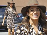 Picture Shows: Nikki Reed  October 09, 2014\n \n 'Twilight' actress Nikki Reed stops to grab some Starbucks while out and about in Hollywood, California. Nikki\n was looking fashionable in a brown wide brimmed hat, printed shirt dress and beige ankle boots.\n \n Non Exclusive\n UK RIGHTS ONLY \n \n Pictures by : FameFlynet UK © 2014\n Tel : +44 (0)20 3551 5049\n Email : info@fameflynet.uk.com