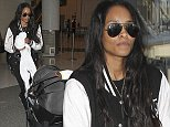 Ciara spotted arriving at LAX Airport coming from Atlanta with her baby boy Future Zahir Wilburn.  Pictured: Ciara Ref: SPL861947  091014   Picture by: Splash News  Splash News and Pictures Los Angeles: 310-821-2666 New York: 212-619-2666 London: 870-934-2666 photodesk@splashnews.com