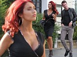 Getting closer to her goal: Amy Childs enjoys another date with footballer Adam Smith... days after confirming their blossoming relationship