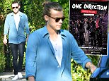 Harry Styles of the hit band One Direction is spotted with his hair an a bun and without any shoes on as he leaves a friends house in West Hollywood, Ca  Pictured: Harry Styles Ref: SPL861116  091014   Picture by: GoldenEye /London Entertainment  Splash News and Pictures Los Angeles: 310-821-2666 New York: 212-619-2666 London: 870-934-2666 photodesk@splashnews.com