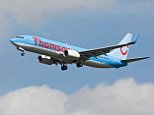 BFTD1G A Boeing B737 series 800 of the British holiday airline TUI/ Thomson on final approach