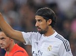 MADRID, SPAIN - AUGUST 25:  Sami Khedira of Real Madrid CF comes on for Karim Benzema during the La liga match between Real Madrid CF and Cordoba CF at Estadio Santiago Bernabeu on August 25, 2014 in Madrid, Spain.  (Photo by Denis Doyle/Getty Images)
