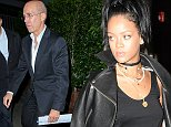Rihanna dining with CEO of DreamWorks Animation  Jeffrey Katzenberg at Giorgio Baldi in Santa Monica. Is Rihanna trying to focus more on acting? October 10, 2014 X17online.com