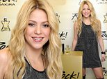 Mandatory Credit: Photo by Most Wanted/REX (4191402a)\n Shakira\n 'Rock! By Shakira' fragrance launch, Barcelona, Spain - 10 Oct 2014\n Pregnant singer Shakira presenting her new fragrance 'Rock! By Shakira'\n