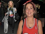 Actress Gemma Merna leads the way as she arrives with members of the cast of TV show Hollyoaks at Euston Station after travelling by train from Liverpool.\n10 October 2014.\nPlease byline: Will/Vantagenews.co.uk