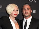 Mandatory Credit: Photo by Gregory Pace/BEI/REX (4101639z)\nLady Gaga and Taylor Kinney\nHarper's Bazaar Celebrate Icons by Carine Outfield, New York, America - 05 Sep 2014\n\n