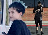 Picture Shows: Kylie Jenner  October 12, 2014    Reality star Kylie Jenner picking up some groceries with a friend in Calabasas, California.     Kylie, who was dressed casually,  tried to hide her face with her purse while walking back to her car.    Kylie is making use of big sister Khloe's birthday present from her ex-boyfriend French Montana, a white $49,000 Jeep Wrangler Sahara.     Exclusive - All Round  UK RIGHTS ONLY     Pictures by : FameFlynet UK    2014  Tel : +44 (0)20 3551 5049  Email : info@fameflynet.uk.com
