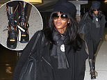 Supermodel Naomi Campbell arrives at JFK airport in NYC.   Ref: SPL861968  111014   Picture by: Splash News  Splash News and Pictures Los Angeles: 310-821-2666 New York: 212-619-2666 London: 870-934-2666 photodesk@splashnews.com