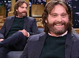 THE TONIGHT SHOW STARRING JIMMY FALLON -- Episode 0144 -- Pictured: (l-r) Actor Zach Galifianakis during an interview with host Jimmy Fallon on October 13, 2014 -- (Photo by: Douglas Gorenstein/NBC/NBCU Photo Bank)