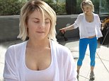 Julianne Hough with friends and her beloved Cavalier King Charles spaniels Lexi and Harley spotted in West Hollywood.\n\nPictured: Julianne Hough.\nRef: SPL864141  121014  \nPicture by: JLM / Splash News\n\nSplash News and Pictures\nLos Angeles: 310-821-2666\nNew York: 212-619-2666\nLondon: 870-934-2666\nphotodesk@splashnews.com\n