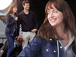Picture Shows: Dakota Johnson, Jamie Dornan  October 14, 2014\n \n Fifty shades of reshoots continue! Actor Jamie Dornan and Dakota Johnson film reshoots for 'Fifty Shades Of Grey' at the airport on October 14, 2014 in Vancouver, Canada.\n \n Director Sam Taylor-Johnson was seen giving the pair some guidance between takes.\n \n Non Exclusive\n UK RIGHTS ONLY\n \n Pictures by : FameFlynet UK © 2014\n Tel : +44 (0)20 3551 5049\n Email : info@fameflynet.uk.com